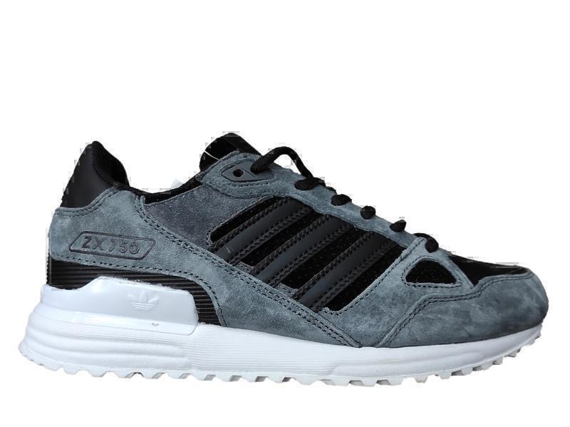 Кроссовки Adidas zx 750 grey black  фото в «GetKeds»