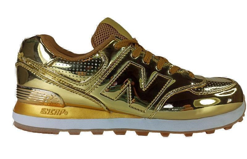 New Balance 574 (Hologram gold) фото #2 в «GetKeds»