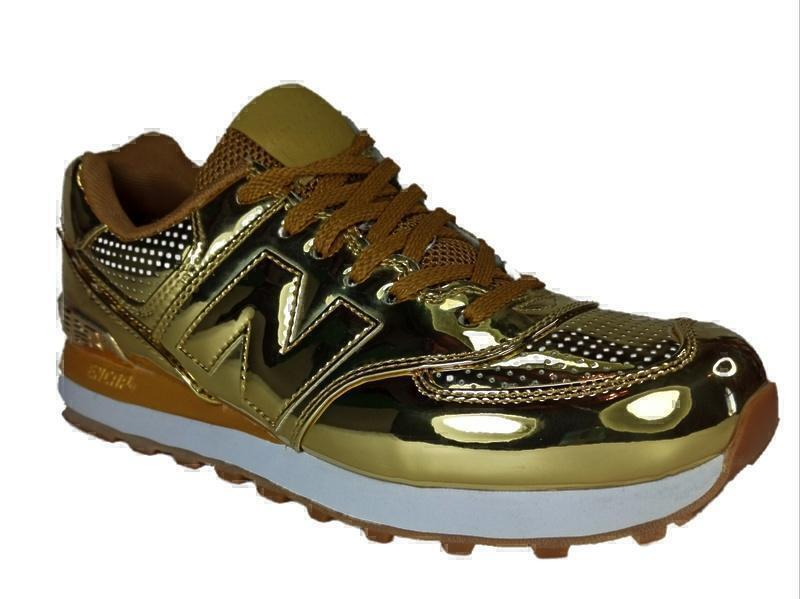 New Balance 574 (Hologram gold) фото #3 в «GetKeds»