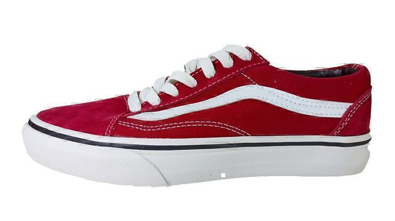 Кеды Vans Old Skool Low (red/wine) фото в «GetKeds»