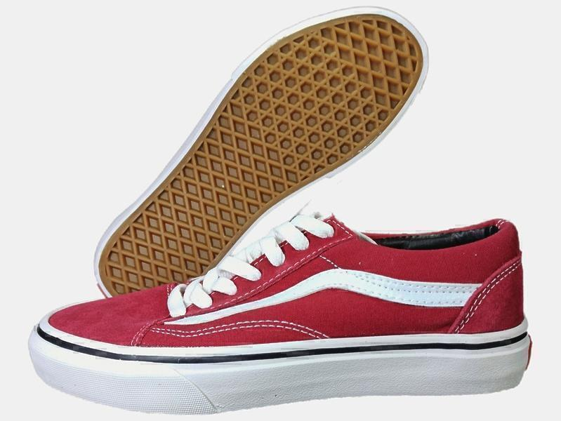 Vans Old Skool Low (red/wine) фото #2 в «GetKeds»