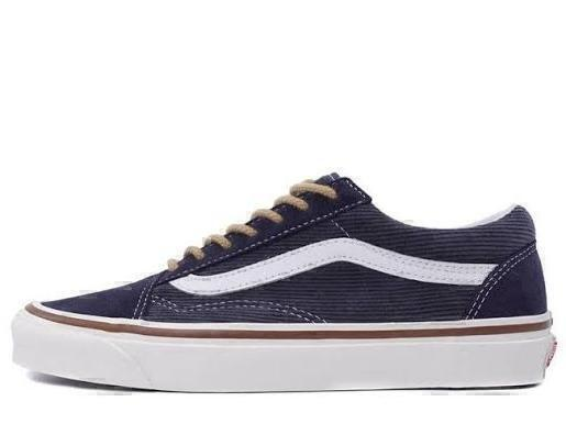 Кеды VANS CORDUROY OLD SKOOL 36 DX OG синий ВЕЛЬВЕТ фото в «GetKeds»