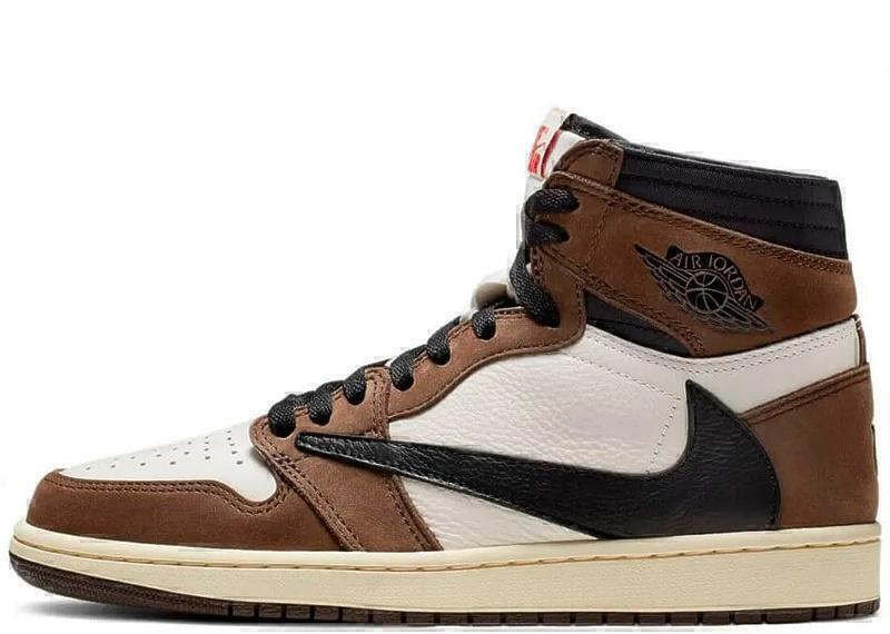 Кроссовки Nike Air Jordan 1 X Travis Scott Mid Khaki/White фото в «GetKeds»
