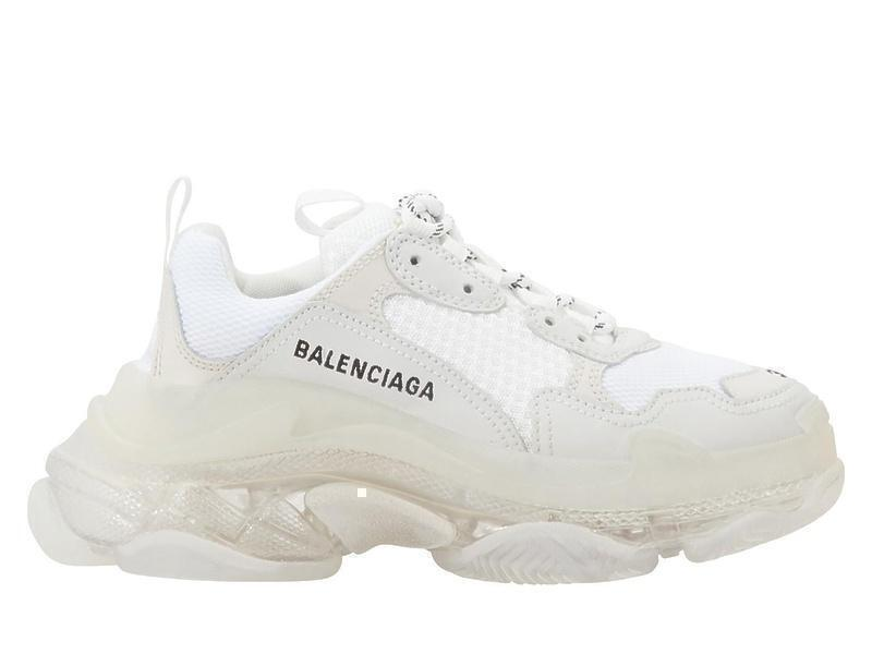 Кроссовки Balensiaga Triple S clear sole  White  фото в «GetKeds»