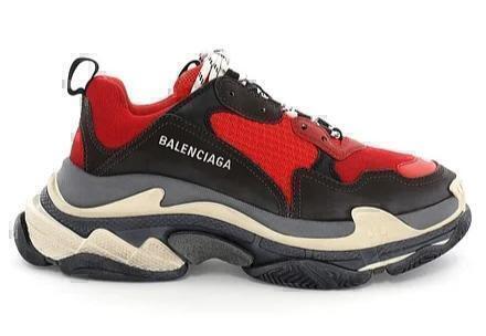 Кроссовки BALENCIAGA TRIPLE - S RED/BLACK фото в «GetKeds»