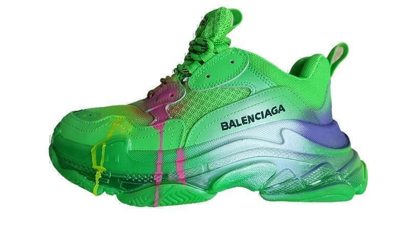 Кроссовки Balenciaga triple s color green фото в «GetKeds»