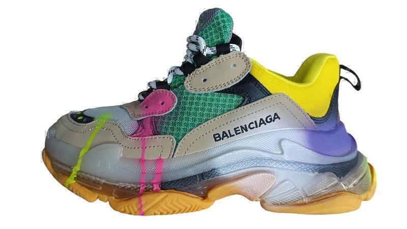 Кроссовки Balenciaga triple s color grey фото в «GetKeds»