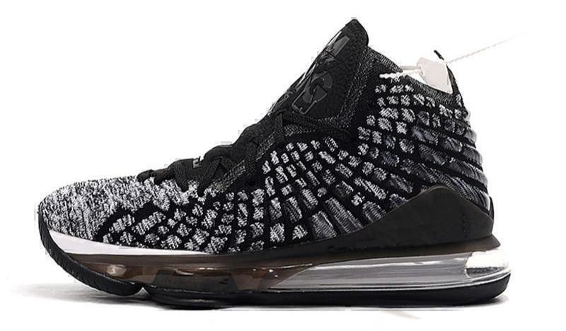 Кроссовки Nike LeBron 17 черный белый BQ3177-002 фото в «GetKeds»