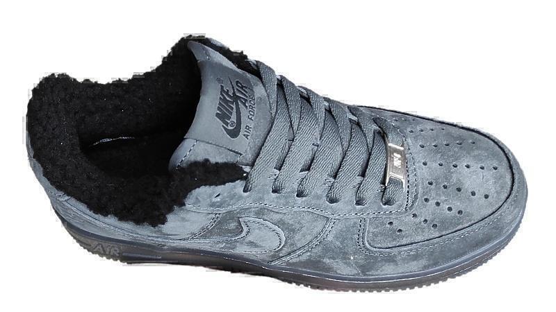 Nike air force 1 grey fur фото #2 в «GetKeds»
