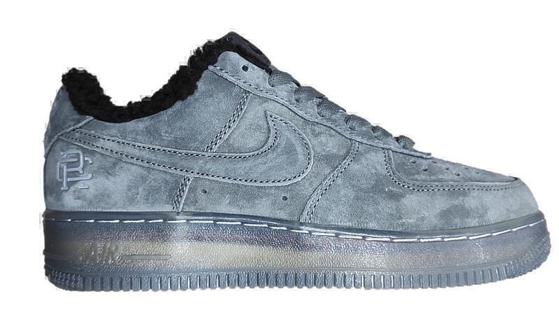 Кроссовки Nike air force 1 grey fur фото в «GetKeds»