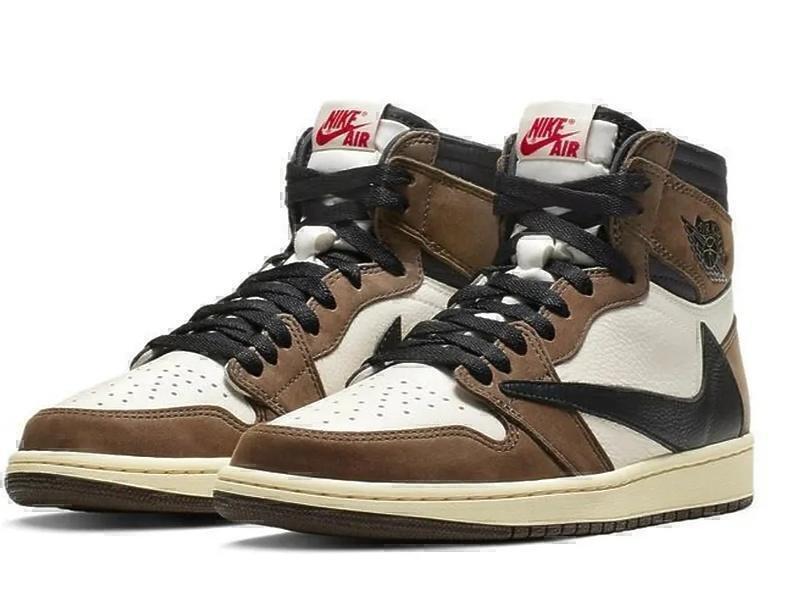 Nike Air Jordan 1 X Travis Scott Mid Khaki/White фото #2 в «GetKeds»