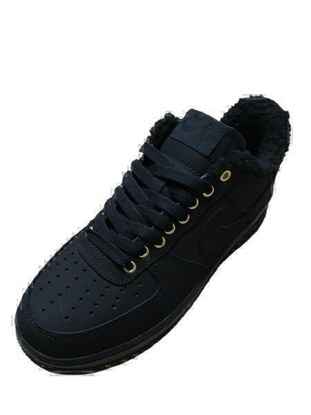 Nike air force 1 all black ( fur) фото #2 в «GetKeds»
