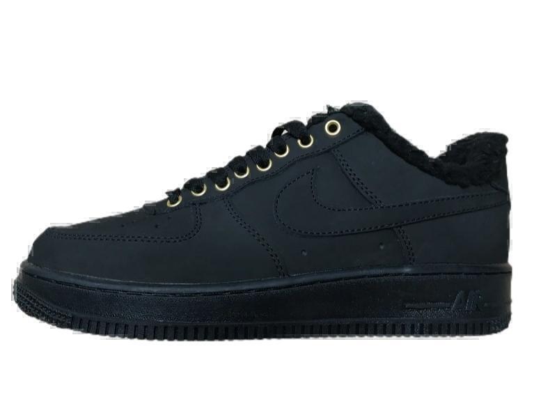 Кроссовки Nike air force 1 all black ( fur) фото в «GetKeds»