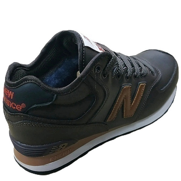 New balance 574 mid (fur) brown  фото #3 в «GetKeds»