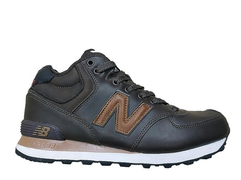 Кроссовки New balance 574 mid (fur) brown  фото в «GetKeds»