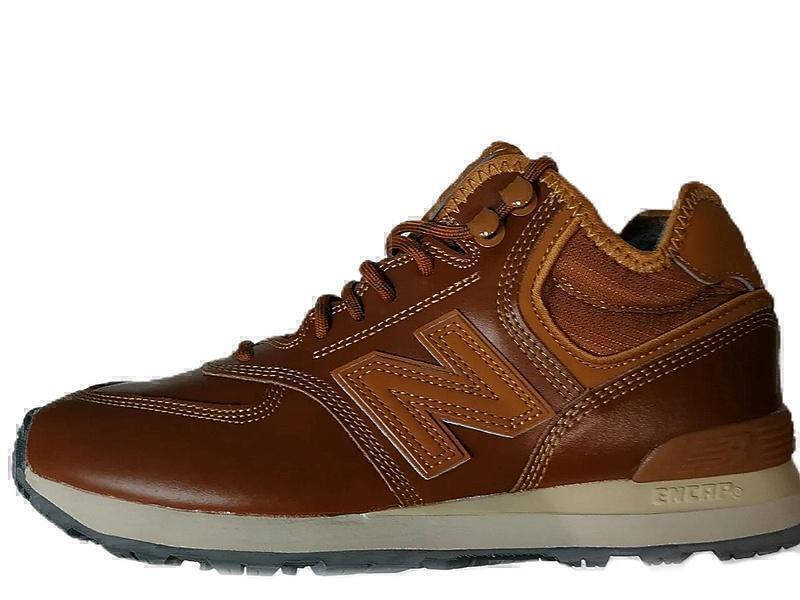 Ботинки New balance 574 mid brown winter фото в «GetKeds»