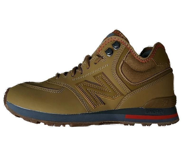 Ботинки New balance 574 mid yellow winter фото в «GetKeds»