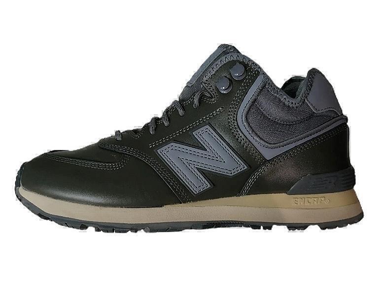 Ботинки New balance 574 mid black winter фото в «GetKeds»