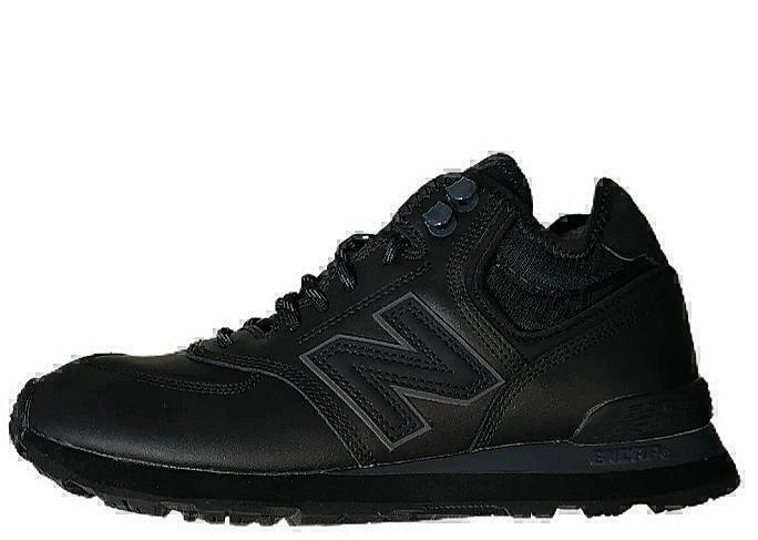 Ботинки New balance 574 mid all black winter фото в «GetKeds»