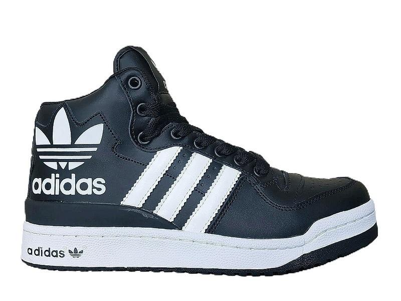 Кроссовки Adidas forum mid rs xl (fur) black white  фото в «GetKeds»
