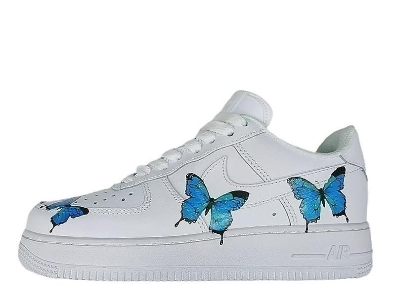 Кроссовки Nike Air Force 1 Low Blue Butterfly  фото в «GetKeds»