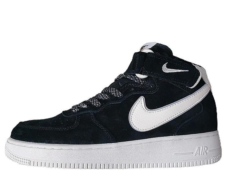 Кроссовки Nike Air Force 1 '07 Mid Suede 3M black фото в «GetKeds»