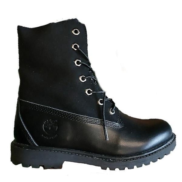 Ботинки Timberland black leather фото в «GetKeds»