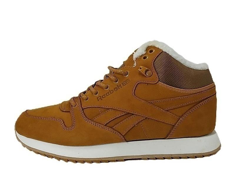 Ботинки  Reebok CLASSIC LEATHER MID brown  фото в «GetKeds»