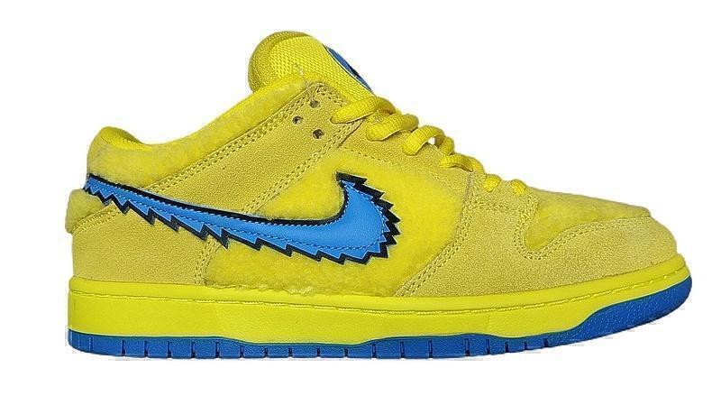 Кроссовки Nike SB Dunk Low Grateful Dead Bears Opti Yellow фото в «GetKeds»