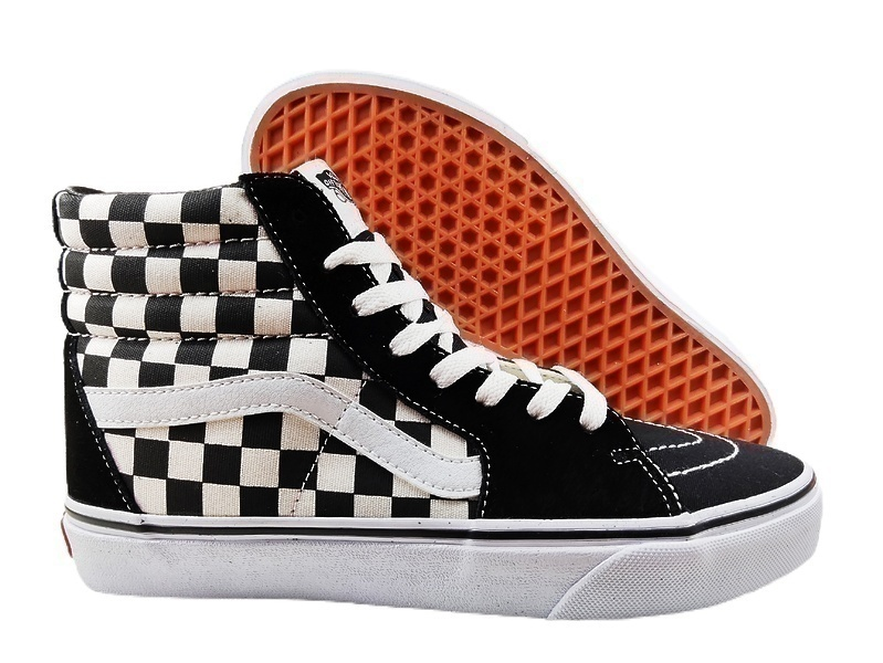 Кеды  Vans Checkerboard SK8-HI Lite Black White фото в «GetKeds»