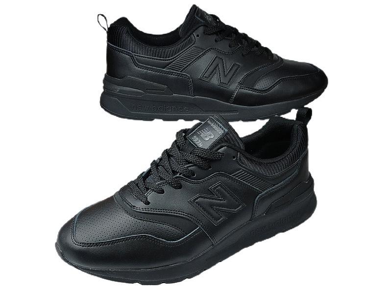 New balance 997 h all black leather фото #4 в «GetKeds»