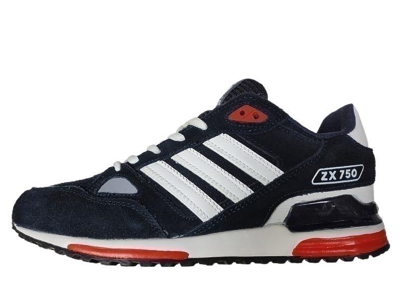 Кроссовки Adidas ZX 750 (Dark/Blue) фото в «GetKeds»