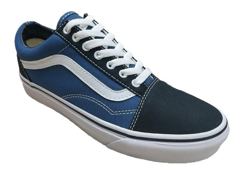 vans old skool blue textile  фото #2 в «GetKeds»
