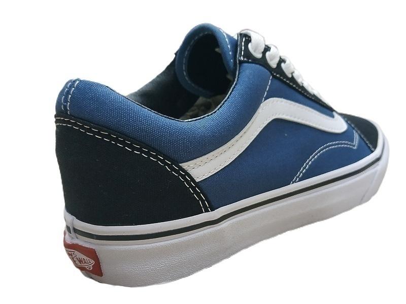 vans old skool blue textile  фото #3 в «GetKeds»