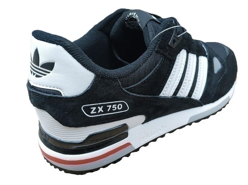 adidas zx 750  black white  фото #2 в «GetKeds»