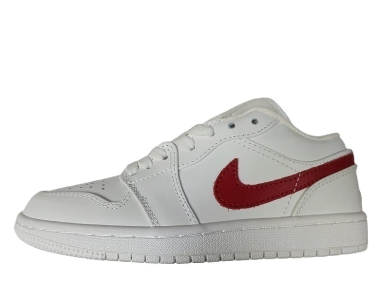 Кроссовки Air Jordan 1 Low white red  фото в «GetKeds»