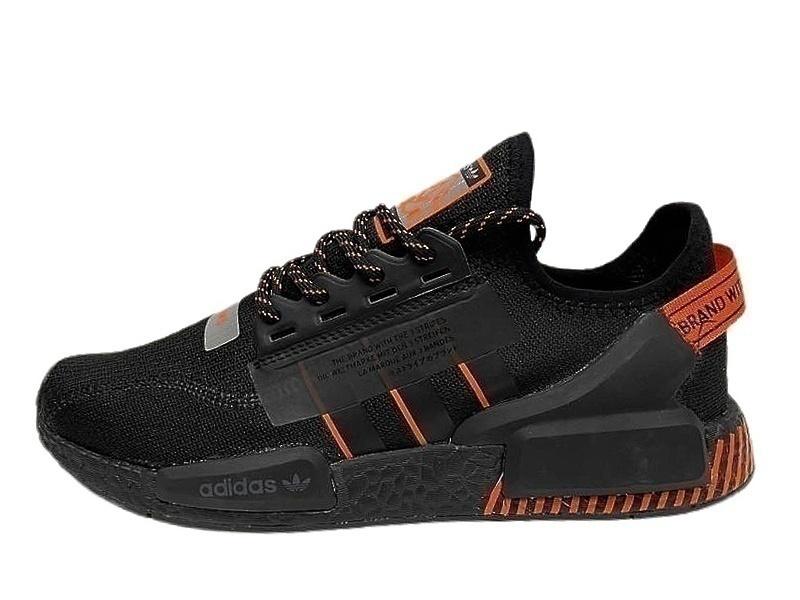 Кроссовки Adidas NMD R1 V2 black orange фото в «GetKeds»
