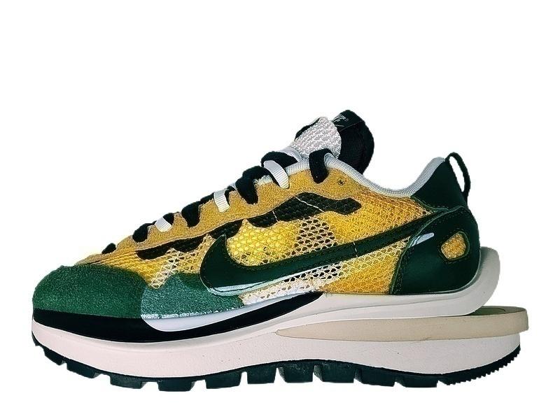 Кроссовки Sacai x Nike VaporWaffle yellow green  фото в «GetKeds»