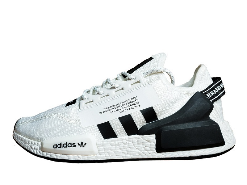 Кроссовки Adidas NMD R1 V2 Cloud White Core Black фото в «GetKeds»