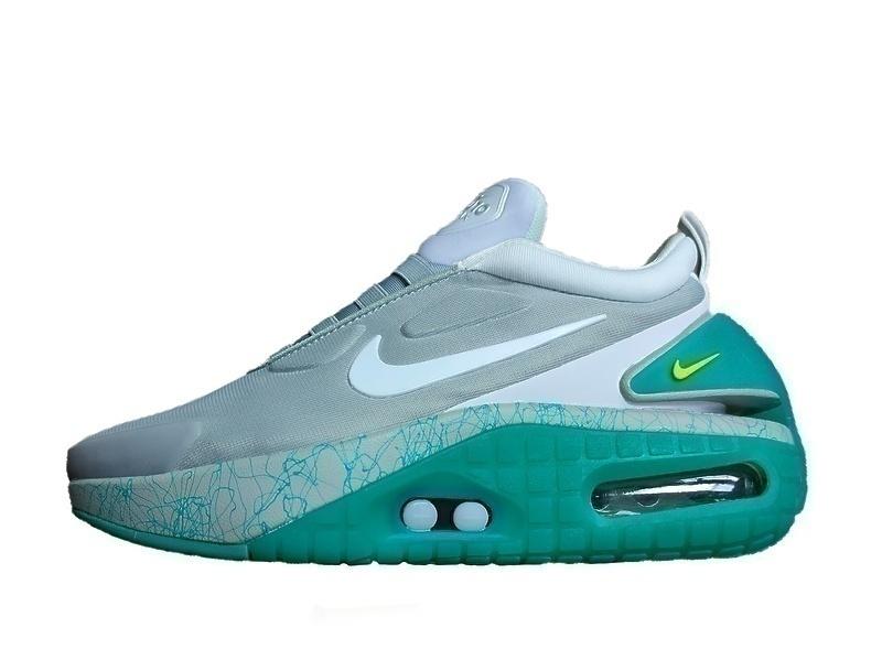Кроссовки Nike adapt auto max gray green фото в «GetKeds»