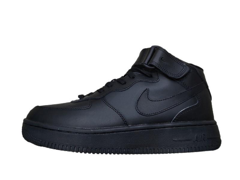 Кроссовки Nike Air Force 1 Mid (Black) фото в «GetKeds»