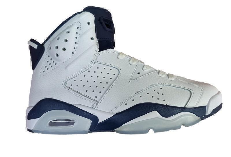 Кроссовки Air Jordan 6 Retro Infrared (White/blue) фото в «GetKeds»