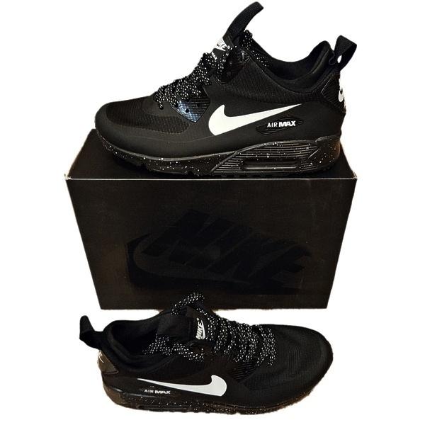 Nike air max 90 mid black white фото #2 в «GetKeds»